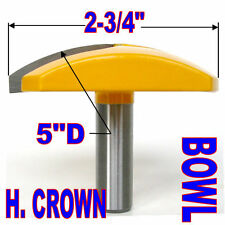 "1pc 1/2SH 2-3/4"" Diameter Horizontal Crown Bowl Molding Round Router Bit sct-888"