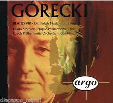 Gorecki: Beatus Vir, Old Polish Music, Totus Tuus / Nelson, Storjev - CD