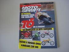 MOTOSPRINT 30/1990 PROVA MOTO KAWASAKI ZX R ZXR 400