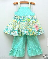NWT CUSTOM BOUTIQUE Resell 3 4 5 Tiered Twirly Dress Capri pant set 2pc lot ETSY