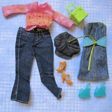 Barbie Fun Find Favorite Fancy Shoe Outfits~Strapless Mini Dress Pant Hat Flower