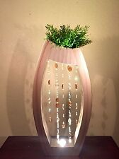 Standing Accent Lamp HAND MADE Blown Glass UNIQUE Light HOME OFFICE PATIO DECOR!