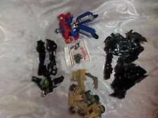 Lot of Transformers Hasbro Robots 4  Toy Action Figures 7""