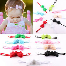 10Pcs Infant Baby Girl Cute Bow Headband Newborn Hair Band Headdress Headwear zw