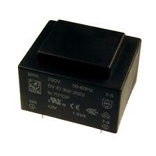 Hahn Print Trafo 230V Printtrafo 1,5VA 12V Netztrafo Transformator 098303