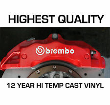 BREMBO HI - TEMP CAST 12 YEAR VINYL BRAKE CALIPER DECALS STICKERS