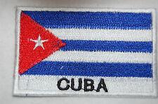 Ecusson brodé patch thermocollant Drapeau CUBA