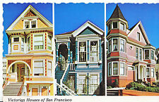 America Postcard - Three Victorian Houses of San Francisco   BH2330