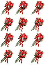Printworks Flowers Rose Bouquet LOT of 12 Scrapbook Stickers!