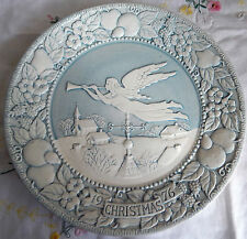 "'Hark! The Herald Angels Sing' Days of Christmas (8-5/8"" Plate 1976) Blue/White"