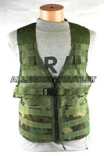 USGI Military MOLLE II Fighting Load Carrier Vest FLC Zipper Woodland Camo MINT