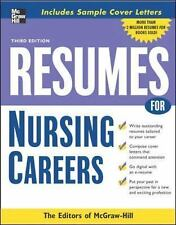 Resumes for Nursing Careers by McGraw-Hill Staff (2007, Paperback, Revised)