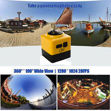 WiFi 360°1080P Panoramic Camcorder Wireless HD Cube Sport Action VR Video Camera