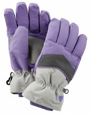 New OshKosh Ski Gloves Winter Glove size 7-14 year Kid Girl NWT Purple Gray