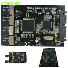 "4 Micro SD to Micro SATA Adapter RAID 0 quad TF card to 1.8"" SATA SSD enclusure"