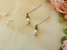 Petite Pearl Tear Drop Earrings  For Antique Dolls~ Jumeau Bru Doll Jewelry
