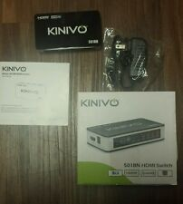 Used Kinivo 501BN 5 port High speed HDMI switch no remote  3D / 1080p