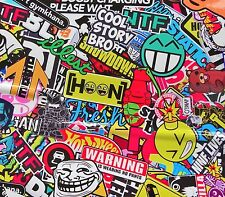 VINILO  STICKER BOMB ACID PEGATINA 1500x500mm  HELLAFLUSH marcas tuning