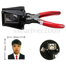 Portable Handheld Passport ID License Photo Picture Punch Cutter Cutting Tool