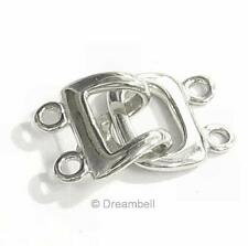 1x Sterling Silver 2-strand Hook Eye Clasp Toggle 11.8mm SC367W