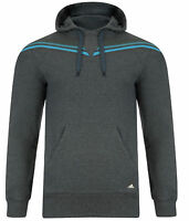 Mens New Adidas Hooded Sweatshirt Hoodie Hoody Jumper Top Sweater - Grey