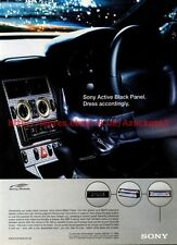 "Sony Active Black Panel ""Dress Accordingly"" 2001 Magazine Advert #8006"