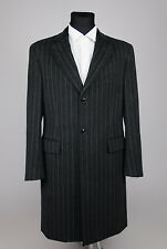 *New* SUIT SUPPLY men's Brushed Wool Gray Striped Dress Coat SIZE US 40/EU 50
