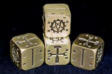 Solid Brass RPG FUDGE Dice For Mechanika Empires - Lovecraft Role Playing Game