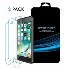x2 Tempered Glass Screen Protector Film Apple iPhone 7 Plus eTEKNIC Glass Armour