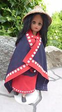 Northwest Coast Native Doll Adorned in Traditional Attire Indigenous Aboriginal