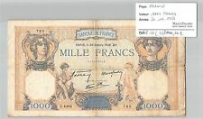 BILLET 1000 FRANCS CERES ET MERCURE - 20-10-1938**