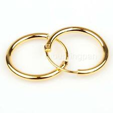 Goldtone Small Endless Hoop Earrings for Cartilage,Nose and Lips,3/8 Inch (10mm)