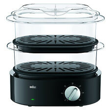 Braun FS5100BK Identity Collection Electric Steamer Vegetable Meat Compact BLACK
