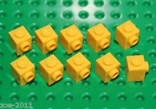 Lego 10x Yellow Brick, Modified 1x1 with Studs on 1 Side (87087) NEW!