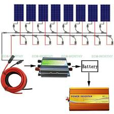 800W Complete Kit: 8*100W PV solar panel W/ 3000W off grid inverter 12V RV Boat