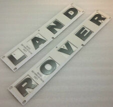 LAND ROVER FREELANDER 2-ORIGINALE NUOVA CUFFIA Badge decalcomanie Lettere in Brunel Grigio