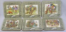 Vintage Box Six Coasters w Comical Golf Images Taunton Vale of England NICE!