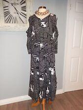 THE EXQUISITE SKULLZ LONDON CARTOON POP ART TO WEAR LAGENLOOK DRESS