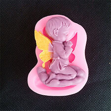 DIY Bakeware Chocolate Fondant Biscuit Cake Baby Angel Soap Mold Silicone Mold