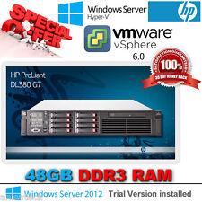 HP DL380 G7 2.66Ghz Quad Core E5640 Xeon 48GB Ram 8x 146Gb SAS P410i 512Mb RAID