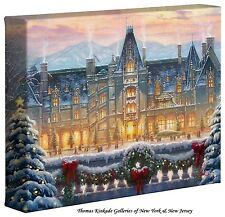 "Thomas Kinkade - Christmas at Biltmore®  – 8"" x 10"" Gallery Wrapped Canvas"