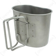 Original Dutch Army Canteen Cup - Genuine Military Surplus Camping Metal Mug