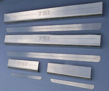 VW Volkswagen Golf TSI Mk7 2013+ Chrome Door Sill Protectors Kick Plates 4 / 5 D