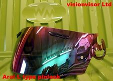 Arai L Type SAL iridium Mirror Pinlock Visor Shield RR4 RX7 Corsair Viper GT NR3