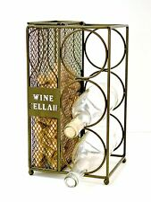 Vineyard Road Wine Bottle Rack and Cork Holder