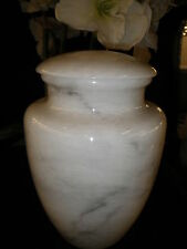 Vase Style Natural Cultured Marble Cremation Urn Overnight Shipping Available 45
