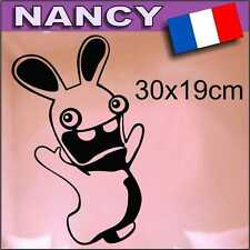 STICKER LAPIN CRETIN AUTOCOLLANT DECORATION 30cmx19cm Aufkleber 40 colors