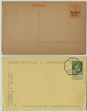 2 postal  stationery cards Deutsches Reich Belgian 8 cent overprint & other card