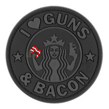 PATCH JTG 3D GOMME LOVE BACON GUNS PAINTBALL AIRSOFT STARBUCK MILITAIRE INSIGNE