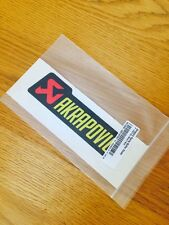 AKRAPOVIC EXHAUST HEAT RESISTANT STICKER LOGO EMBLEM AUTHENTIC GENUINE PART S